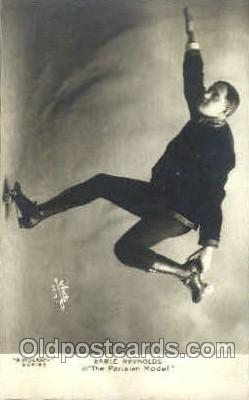 stu001019 - Earle Reynolds Roller Skating, Rotograph, Stunt Stunts Postcard Post Card