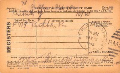 sub000235 - Registry Dispatch Receipt Card