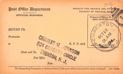sub000235 - Registry Dispatch Receipt Card  back