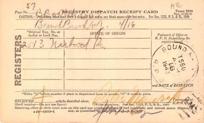 sub000267 - Registry Dispatch Receipt Card