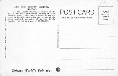 sub000819 - Cook County Hospital, Chicago, IL, USA  back