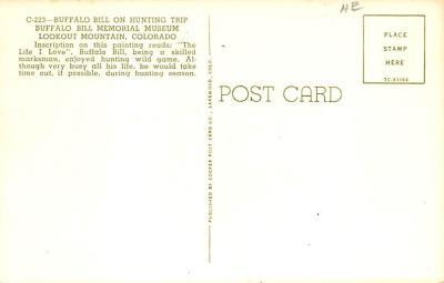 sub001185 - Buffalo Bill on Hunting Trip  back
