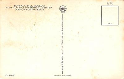 sub001219 - Buffalo Bill Museum, Buffalo Bill Historical Center, Cody, WY, USA  back