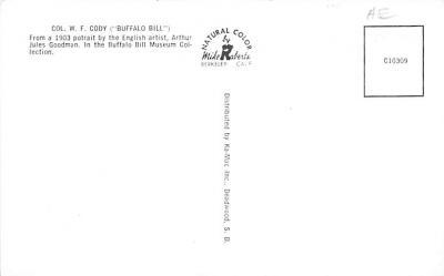 sub001363 - Col. W. F. Cody (Buffalo Bill)  back