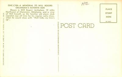 sub001367 - Will Rogers  back