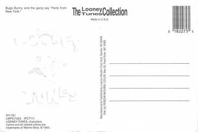 sub013625 - Bugs Bunny Hello From New York, USA Postcard  back