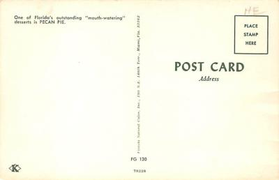 sub013831 - Grandmas Gold's Original Southern Pecan Pie Postcard  back