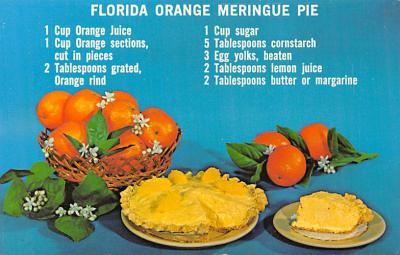 sub013845 - Florida Orange Meringue Pie  Postcard