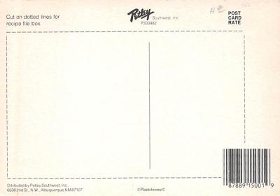 sub013851 - Favorite Mexican Recipes Cheese-Topped Tortilla Chips Postcard  back