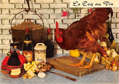 sub013887 - Rooster on Kitchen Counter  Postcard