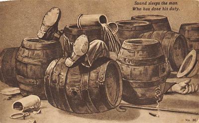 sub015523 - Sound sleeps the man who has done his duty.  Postcard