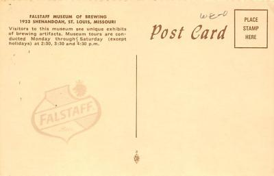 sub015569 - Falstaff Museum of Brewing St Louis, MO.  USA Postcard  back