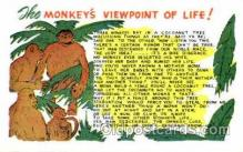 say001065 - Monkey Viewpoint Sayings, Quotes, Postcard Postcards