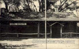 sct000053 - Girl Scouts Cabin, Pratt, Kansas,  Scout, Scouting, Postcard Postcards
