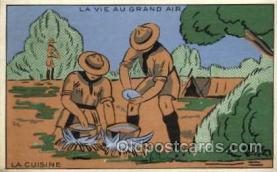 sct000064 - La Cuisine, Boy & Girl Scouts, Scout, Scouting, Postcard Postcards