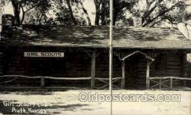 sct000072 - Girl Scouts Cabin, Pratt, Kansas,  Scout, Scouting, Postcard Postcards