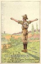 sct000080 - Les Signaleurs, Boy & Girl Scouts, Scout, Scouting, Postcard Postcards