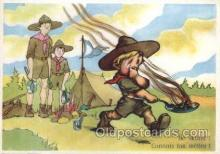 sct002008 - Scout Scouting Larger Continental size Postcard Postcards