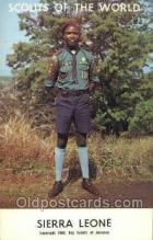 sct100033 - Sierra Leone Boy Scouts of America, Scouting Postcard, Post Cards, Copyright 1968