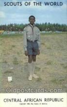 sct100091 - Cental African Republic Boy Scouts of America, Scouting Postcard, Post Cards, Copyright 1968