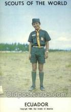 sct100105 - Ecuador Boy Scouts of America, Scouting Postcard, Post Cards, Copyright 1968