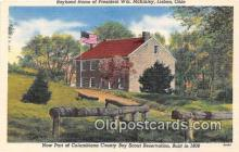 sct100115 - Boyhood Home of President WM McKinley Lisbon, Ohio, USA Postcards Post Cards Old Vintage Antique