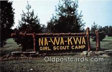sct100133 - Na Wa Kwa Girl Scout Camp  Postcards Post Cards Old Vintage Antique