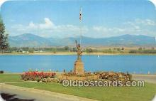 sct100136 - Boy Scout Monument & Lake Loveland Loveland, CO, USA Postcards Post Cards Old Vintage Antique