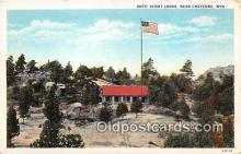sct100142 - Boys' Scout Lodge Cheyenne, Wyoming, USA Postcards Post Cards Old Vintage Antique