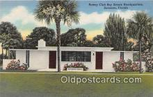 sct100164 - Rotary Club Boy Scouts Headquarters Sarasota, Florida, USA Postcards Post Cards Old Vintage Antique