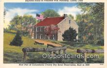 sct100165 - Boyhood Home of President WM McKinley Lisbon, Ohio, USA Postcards Post Cards Old Vintage Antique