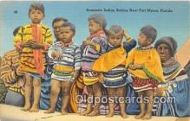sem000033 - Seminole Indians Postcard