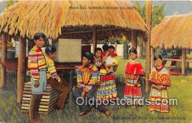 sem000045 - Seminole Indians Postcard