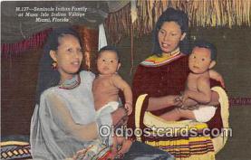 sem000047 - Seminole Indians Postcard