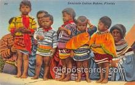 sem000067 - Seminole Indians Postcard