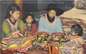 sem000068 - Seminole Indians Postcard