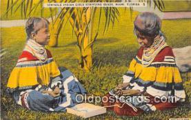 sem000079 - Seminole Indians Postcard