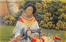 sem000090 - Seminole Indians Postcard
