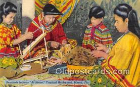 sem000100 - Seminole Indians Postcard
