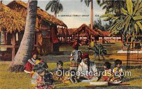 sem000107 - Seminole Indians Postcard