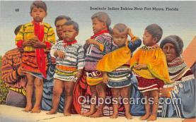 sem000119 - Seminole Indians Postcard