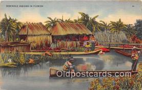 sem000127 - Seminole Indians Postcard