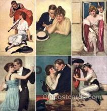 set090 - Underwood / 6 card  postcards set, serie no. 774-779