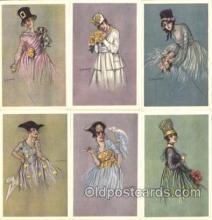 set098 - Zandrino / 6 card  postcards set, serie 23