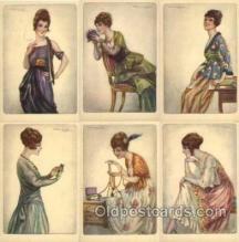 set177 - Artist Bompard set of 6 postcards series 985