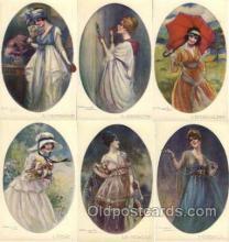 set182 - Artist Bompard set of 6 postcards series 907