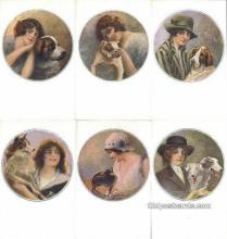 set187 - Monestier Postcards 6 Card Set Series 36 Old Vintage Antique