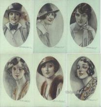 set188 - Mauzan Postcards 6 Card Set Series 279 Old Vintage Antique