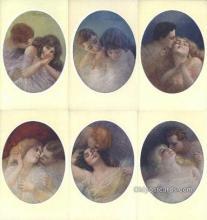set189 - Guerzoni Postcards 6 Card Set Series 340 Old Vintage Antique