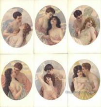 set194 - Calderara? 6 Card Set Postcard Old Vintage Antique